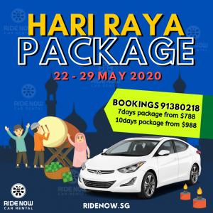 Hari Raya Puasa Car Rental Package 2020