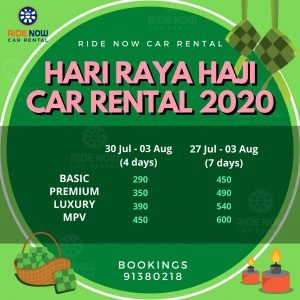 Hari Raya Haji Car Rental 2020