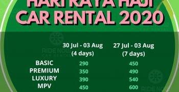 Hari Raya Haji Car Rental 2020